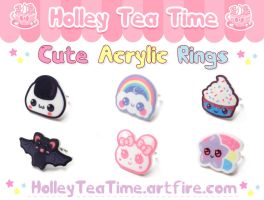 Cute Acrylic Rings Set 2 by miemie-chan3