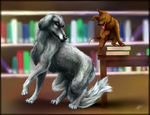 dogs and books by Marshcold