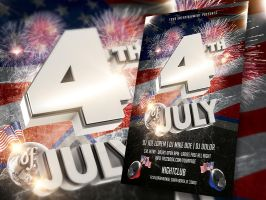 4th of July flyer by deiby