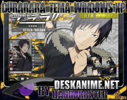 Izaya Orihara Theme Windows XP by Danrockster