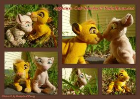Applause Cub Simba And Nala Beanies by DoloAndElectrik