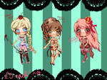 Adoptables: Sugar Royalty [ONLY 2 LEFT!] by cuteincarnate