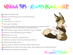 Writing Tips Poster by Falcolf