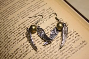 Snitch Earrings by Nabila1790
