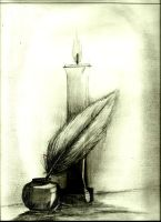 Candle And InkPot by All4Sparta