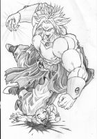 broly squashes krilin by impressionable
