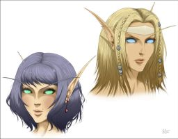 Comm - Blood Elves by kaiverta