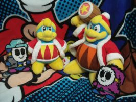 Our King Dedede Plushies by MarioSimpson1
