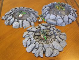 28mm Wargame Crater Terrain Set (Warhammer 40k) by Necron2-0