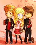 Ares, Aphrodite and Hephaestus: Shoujo Edition by allarica