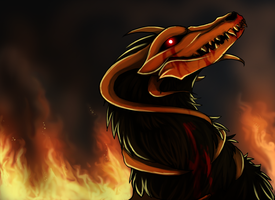 Houndoom From Hell by KellBellz