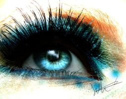 cyan eye by just-my-eye