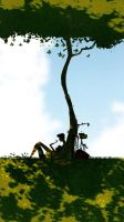 Under the tree by PascalCampion