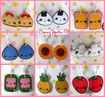 Cute Earring Collection by CherryAbuku
