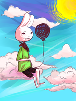 Floating in the sky by Juiceybox