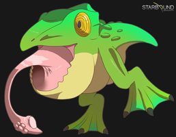 Starbound - Frogeateon by Dragonith