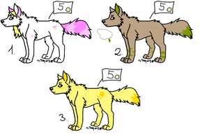 Adoptables wolf 5 points by Netris10
