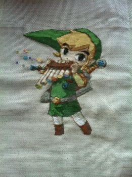 Link embroidery (spirit track) by Gabzcr