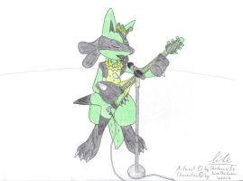 Lucario Rocks by Shadowxite