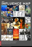 Influence Map by Not-Quite-Normal