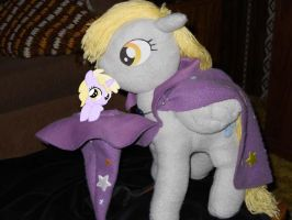 G and P Derpy pulls Dinky by EratosofCyrene