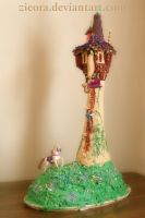 Tangled Birthday Cake by zieora