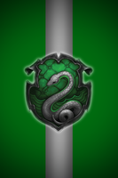 Slytherin iPhone wallpaper 2 by technoKyle