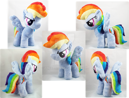 Rainbow Dash Standing Plush by TheHarley
