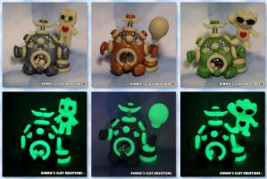 Glowbots - The CUTE side of SCARY by KIMMIESCLAYKREATIONS