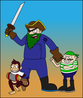 Captain Greenbeard by Antooniverse