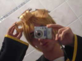 Cosplay Len normal wig modific by zexion94