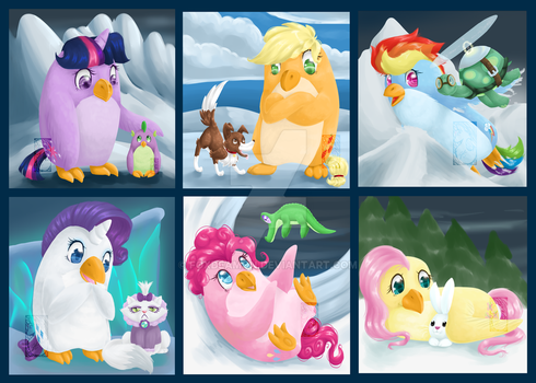 Poneguin Collective by foxdeamon