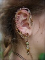 Elven Fairy Elf Ear Cuffs by jhammerberg