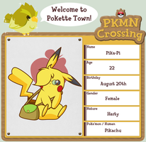.:PKMN Crossing App - Pika-Pi: by Volmise