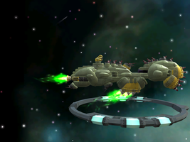 R-type - Bydo Battleship (on Spore) by Protheeus