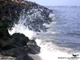 water wave  (photograph by spark MURALI.K) by sparkmurali
