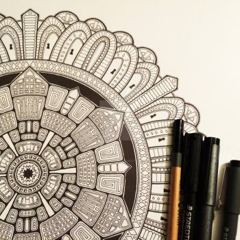 Advanced Mandala Colouring Book Vol 2 - Pic 2 / 2 by Mandala-Jim