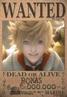Roxas Wanted Poster by SoraKing