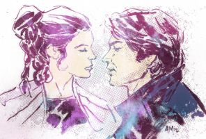 HAN AND LEIA - I KNOW by aaronminier