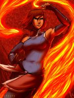 Korra Fire Power by SolKorra