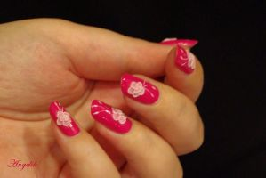 Nail art : Rose 3d by Angelik23