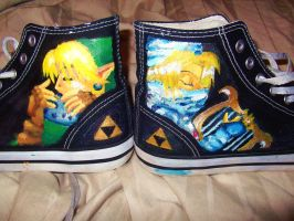 Zelda Shoes, Together 8D by wisecracker42