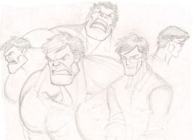Bruce Banner- Hulk sketch by shushubag