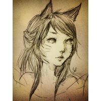 Ahri by foxledore