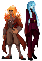 AE- Leonard the Fire Lord and Sofia by Novasiri