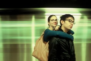 still-life in subway by redgreenboo