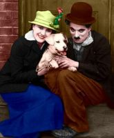 Charlie and Edna Colorized 3 by ajax1946