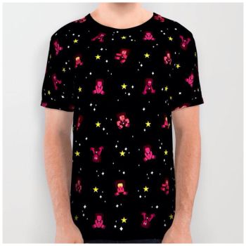 Rubies in Space All Over Tee by Slothgirlart