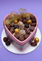 Chocolate Heart Cake by ginas-cakes