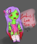 Zombies Love Too by starzyrose